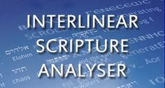 Interlinear Scripture Analyzer